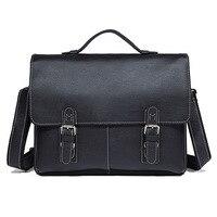 Durable Thick Genuine Leather Men's Briefcase Men Messenger Bags Laptop Portfolios Handbag Men Leather Bag Mens Briefcase Bags