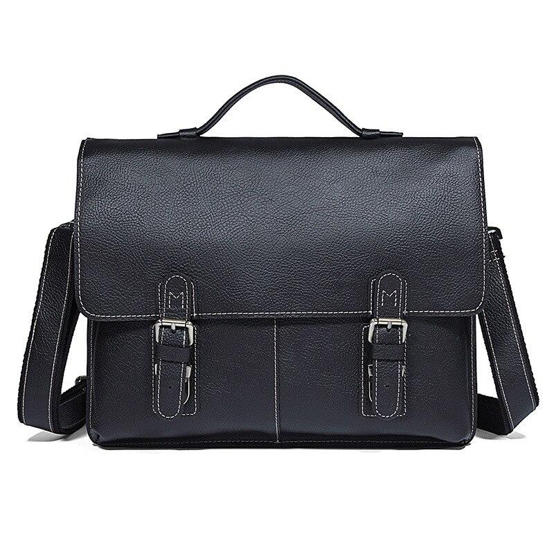 Porte-documents pour hommes en cuir véritable épais Durable sacs Messenger pour hommes portefeuilles pour ordinateur portable sac à main pour hommes sac en cuir sacs porte-documents pour hommes