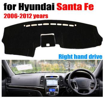 Araba dashboard kapak mat Hyundai Santa Fe 2006 2012 yıl Sağ el sürücü dashmat pad dash kapak oto dashboard aksesuarları|mat mat|mat for carmat cover -