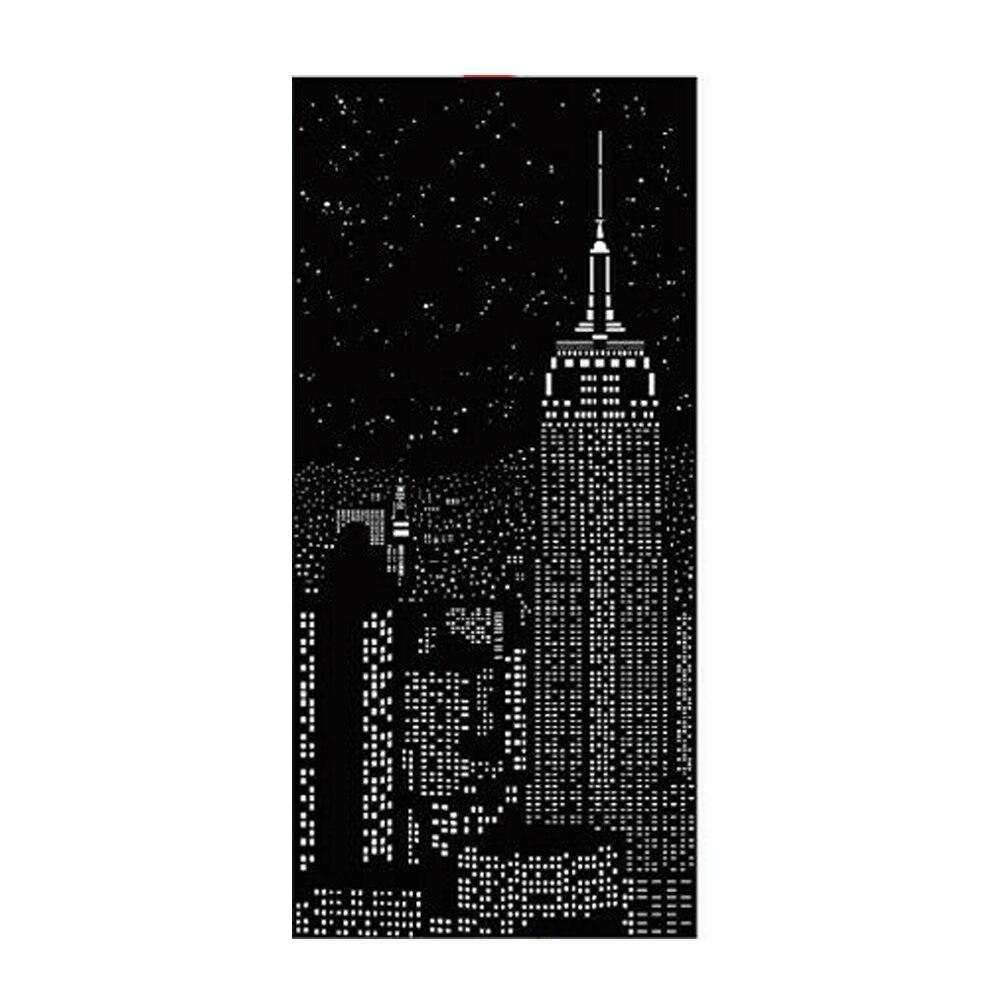 Polyester Durable pratique monolithique ciel étoilé rideaux occultants ombre nuit lumière mur ville conçoit maison rouleau trou chambre