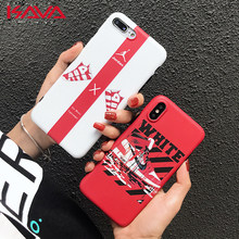 8b6eeffa104891 New Air Jordan AJ1 Ow off Suprem Soft silicon cover case for iphone 6 6Plus  S