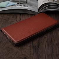 Vintage Litch Genuine Leather Case For Ulefone S7 S8 S8 Pro Mobile Phone Retro Flip Cover