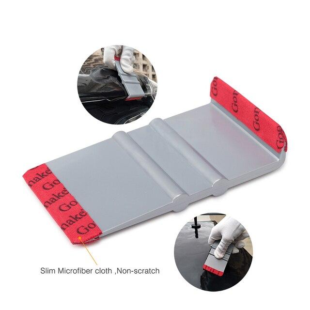 Ehdis vinil envoltório filme matiz microfibra feltro rodo de fibra carbono camurça raspador janela decalque adesivo limpo ferramentas do carro acessórios