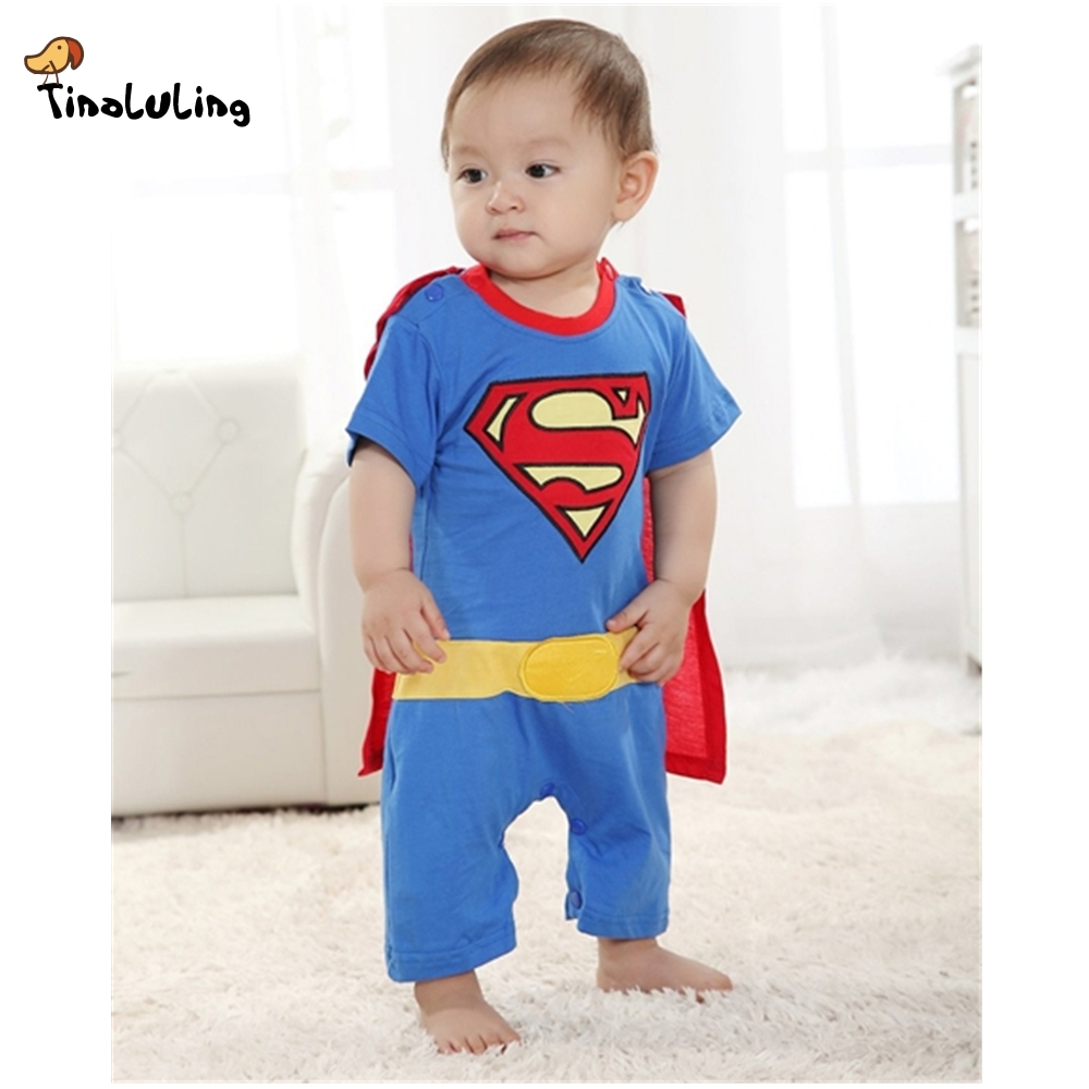 263ba38a6 TINOLULING Baby Boys Clothing Newborn Superman Romper Toddler Body suits  with Smock Halloween Girls Boys One Pieces Jumpsuits-in Rompers from Mother  & Kids ...
