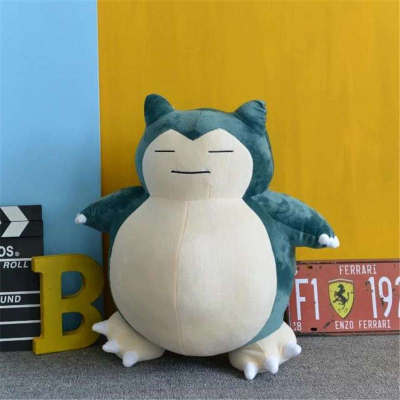 Anime Pokemon Snorlax Cosplay Props Toys Pillow Soft Cotton Kawaii Plush Doll 30cm 50cm Height Kids Child Teens Girls Collection 1
