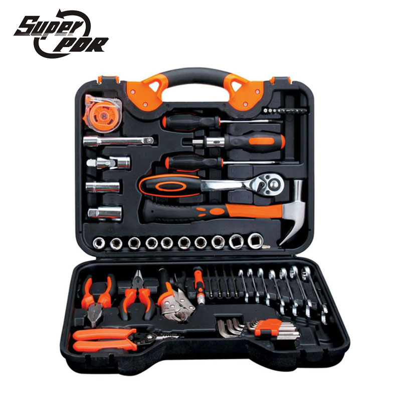 Super PDR 55 pcs Combination Torque Wrench Car Repair Tool Set Ratchet Socket Spanner Screwdriver Mechanics Tool Kits 46pcs set carbon steel combination tool set wrench batch head ratchet pawl socket spanner screwdriver household car repair tool