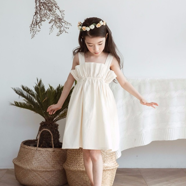 6f43b6dbf72 US $38.68 |Big Age Child Girl Clothes For 12 Years Old Bandage Dress Summer  Midi Sundress Cotton Dress Eveving Party Suspenders Frock-in Dresses from  ...