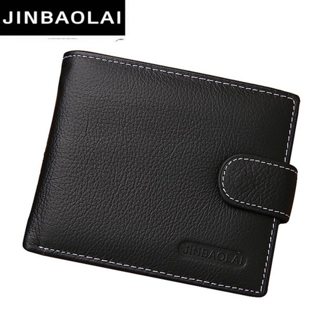 JINBAOLAI кожаные мужские кошельки Твердые образец стиля на молнии кошелек человек карты Horder кожа известный бренд высокое качество мужской кошелек