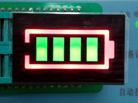 Red/Green Bicolor Battery power LED display, light bar, 4digit 31.3*20mm common anode