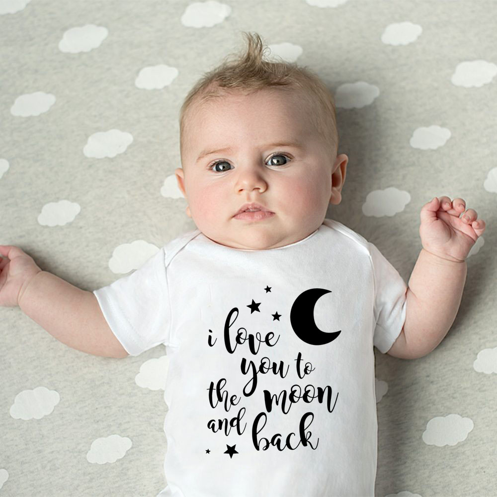 Baby Boys Girls Summer Tee I Love You to The Moon and Back T-Shirt 6M-24M
