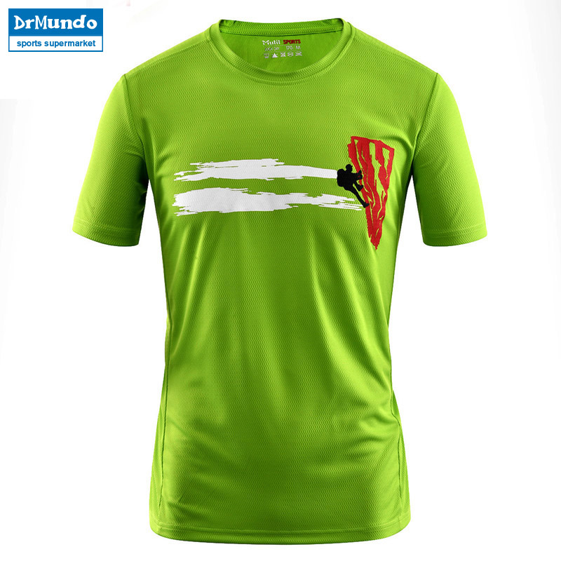 Men's Summer Outdoor Hiking Fast Drying Breathable T-shirts Short Sleeve Sports Gym Top Running Climbing T Shirts