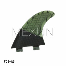 Ebuy360 (three items/lot) Carbonfiber FCS G5 Surfboard Fin Rudder Measurement M 2016 Fiberglass Surfboards Fin Browsing Surf Fins