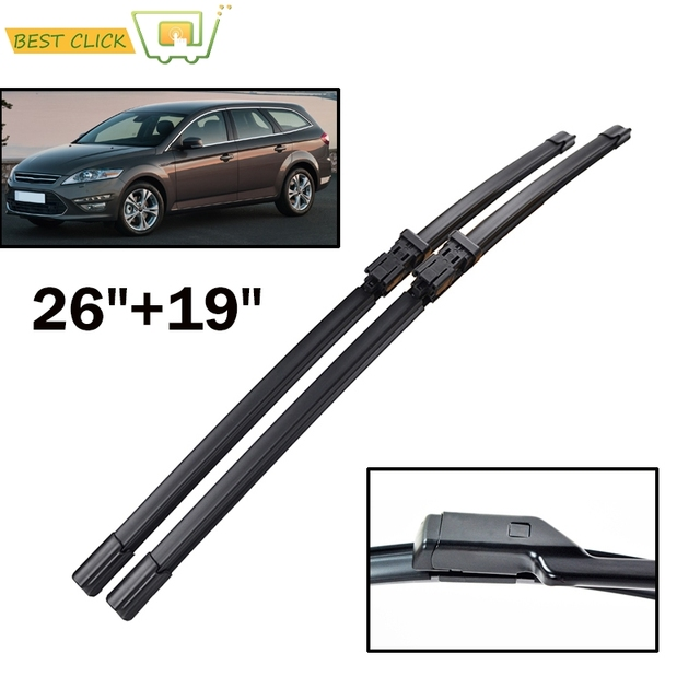 "Misima 26""+19"" Windshield Windscreen Wiper Blades For Ford Mondeo 4 Front Window Wiper 2007 2008 2009 2010 2011 2012 2013 2014"