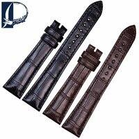 Pesno для Breguet ремешок чёрный; коричневый аллигатора кожи watch band Для женщин Аксессуары для часов 18 мм