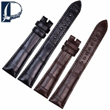 Pesno Watch Strap Black Brown Alligator Skin Leather Watch Band  Women Watch Accessories 18mm