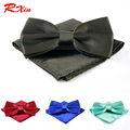 36 Color de Moda corbata para los hombres corbata de Lazo Pocket square set pajaritas corbata mariposa pajarita wedding party Pañuelo