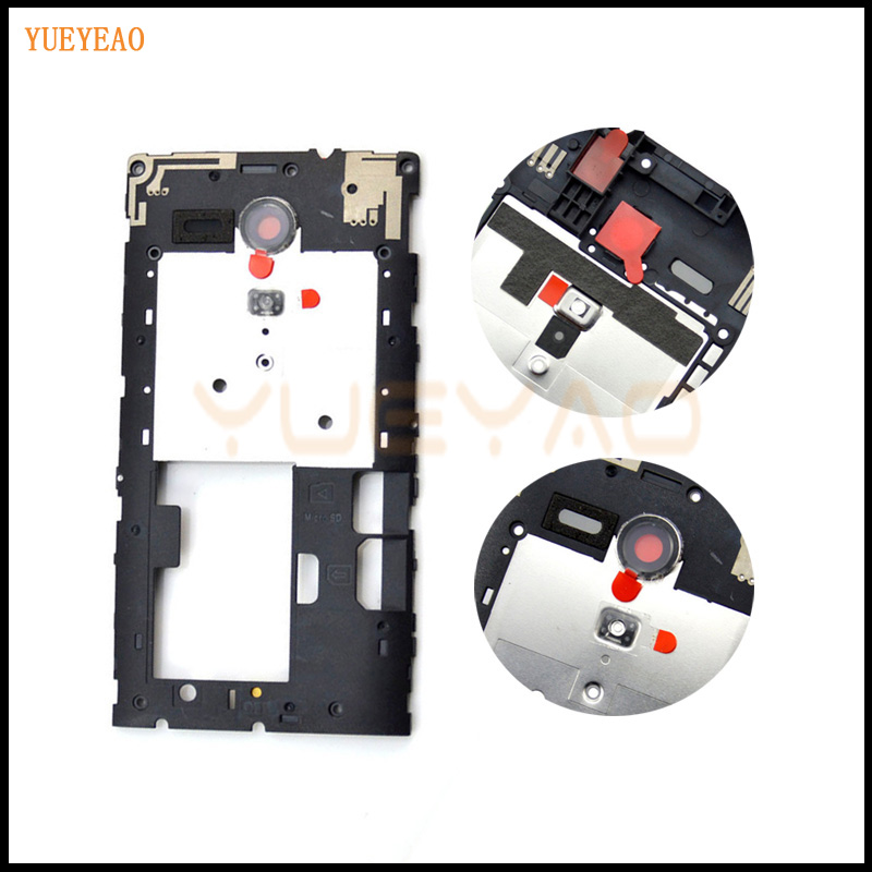 BRICOTOOL Middle Frame For Sony Xperia SP M35 M35H C5302 C5303 Middle Chassis Frame Housing Cover + Camera Lens