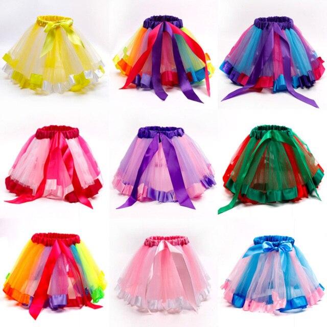 2019 chica Tutu faldas niños falda para niñas princesa occidental de baile fiesta de Ballet Tutu faldas niños ropa
