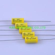 10pcs Tubular Poly Film Audio Capacitor Axial 0.1uf 104 630V Tube Amplifier