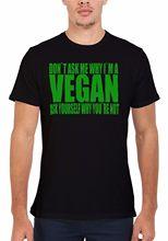 """Don't Ask me Why I'm a Vegan…"" men's shirt"