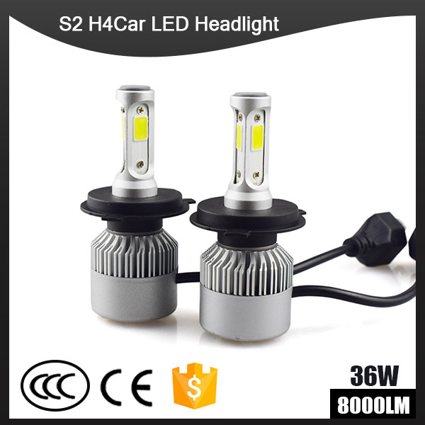 S2 H4 H7 H13 H11 H1 9005 9006 H3 9004 9007 9012 COB <font><b>LED</b></font> Headlight 72W 8000LM Car <font><b>LED</b></font> Headlights Bulb Fog Light 6500K 12V
