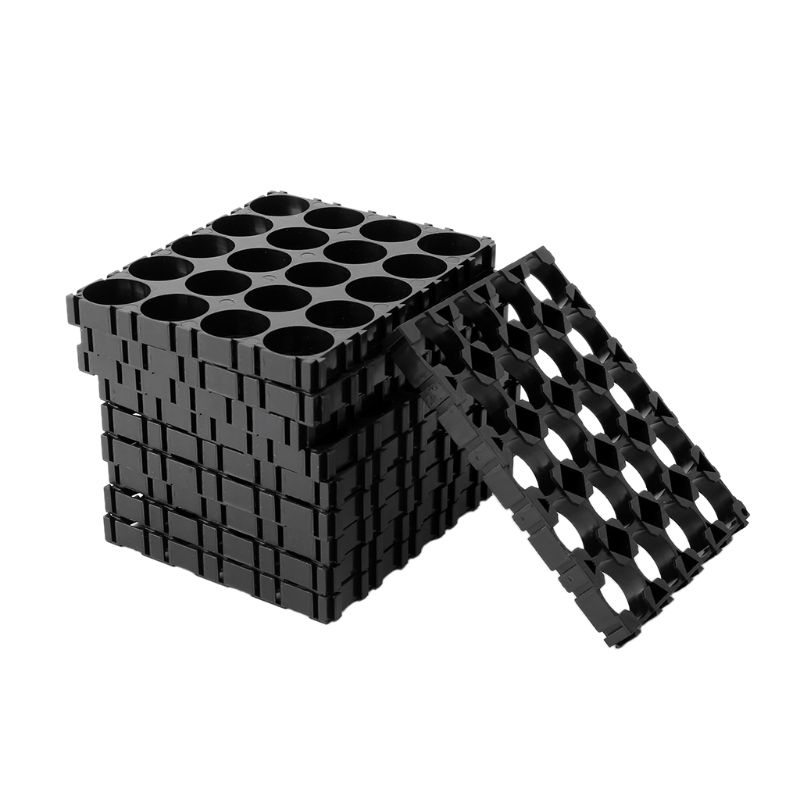 10x <font><b>18650</b></font> <font><b>Battery</b></font> <font><b>4x5</b></font> Cell Spacer Radiating Shell Pack Plastic Heat <font><b>Holder</b></font> Black image