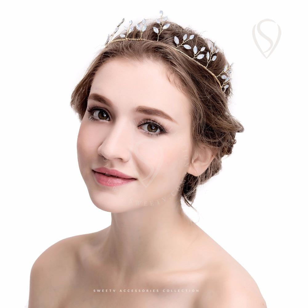 Handmade Headband Tiara Crystal Crown Gold Bridal Hair Accessories Grecian Headpiece For Wedding Festival Photography On Aliexpress Alibaba Group