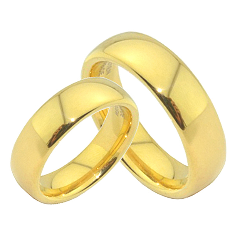 Anniversary Alliances Wedding Band Couple Rings 468mm Gold Color Fashion Jewelry Tungsten carbide Rings for women (4)
