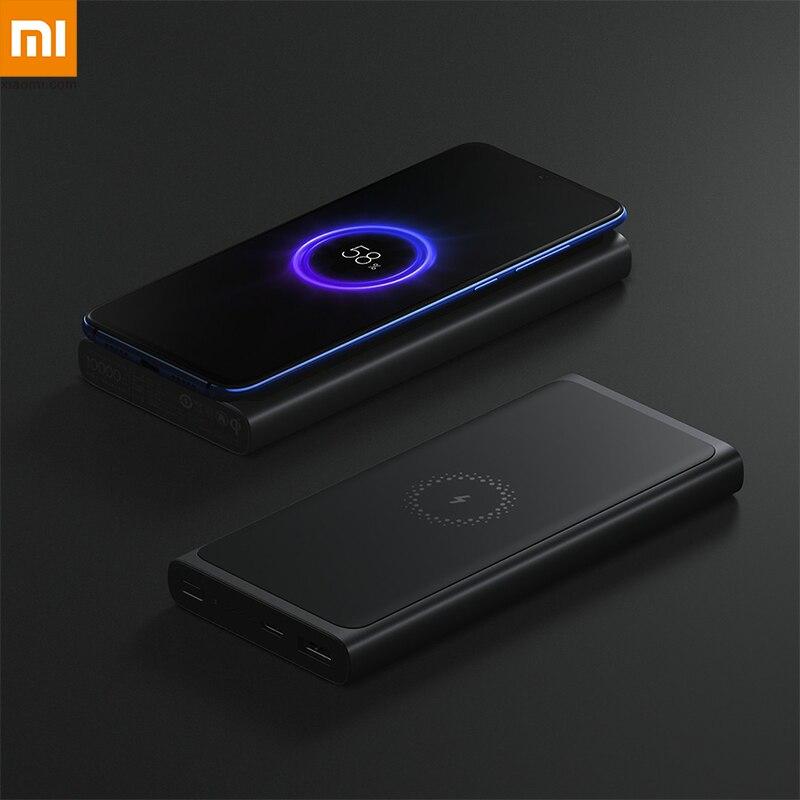 Nouveau en Stock Xiao mi mi batterie externe sans fil 10000 mAh PLM11ZM Qi Charge rapide USB type C Powerbank Max 10 W chargeur rapide Portable