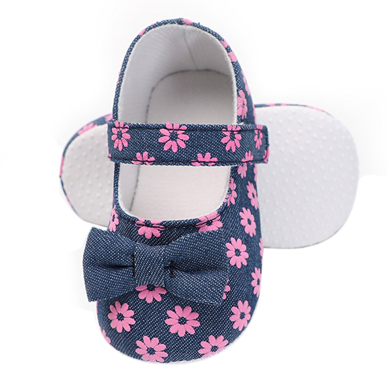 High Quality Newborn Girl First Walkers Shoes Little Daisy Print Female Baby Toddler Shoes Small Fresh Princess Shoes ...