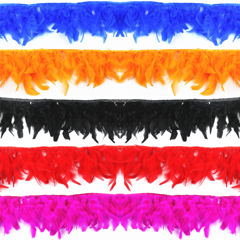 Wholesale 2 Meters Lot High Quality Turkey Feather Fringe Trims 6 8 quot Chandelle Marabou Feathers for Crafts Trimming Skirt Dress in Feather from Home amp Garden