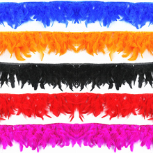Wholesale 2 Meters/Lot High Quality Turkey Feather Fringe Trims 6-8 Chandelle Marabou Feathers for Crafts Trimming Skirt Dress