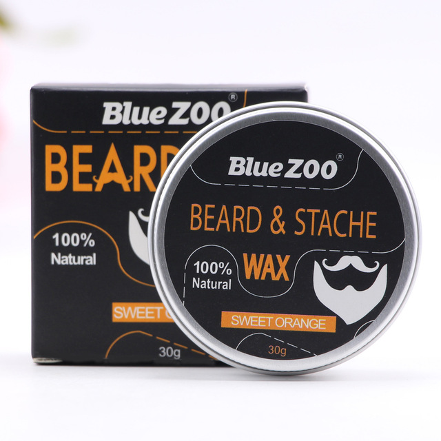 New Natural Beard Wax 4 Tastes Beard Wax Balm Hair Loss Products Leave-In Conditioner for Groomed Beard Growth Health Care Tools
