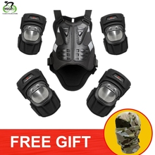 WOSAWE Ski Snowboard Armor Set Motorcycle Knee Pad Elbow Chest Protector Back Support Motocross Motorbike Body Guard Gear
