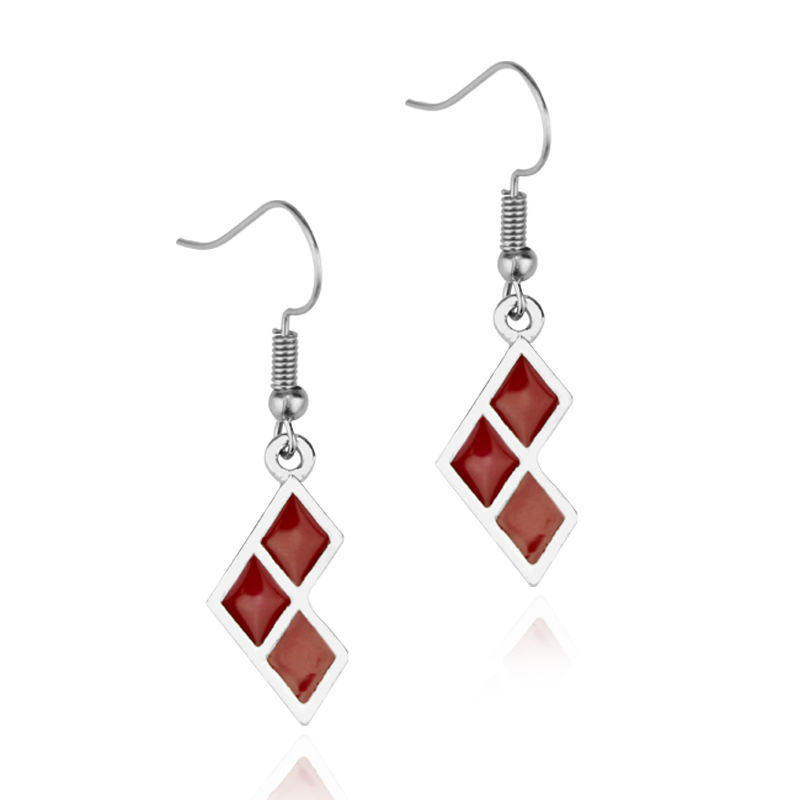 Suicide Squad Harley Quinn Logo Drop Earrings for women jewelry for girl gift