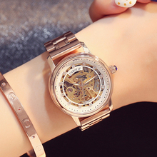 Carotif Fashion automatic mechanical watches women stainless steel