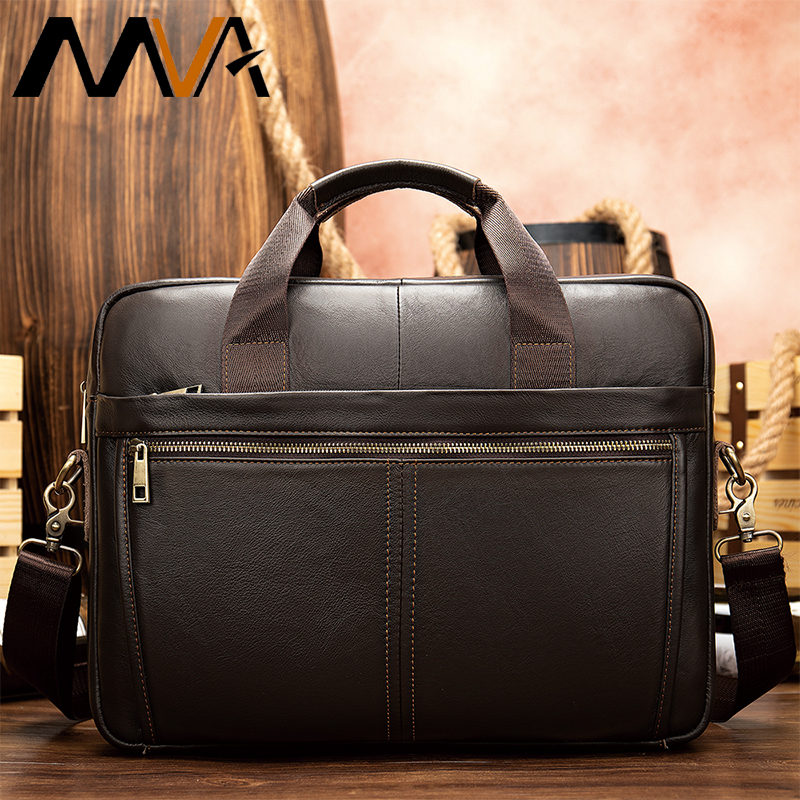 Bag Men's Briefcase Real Genuine Leather Business Bags For Man Male Leather Laptop Briefcase Male Computer Bag Men Lawyer   8572
