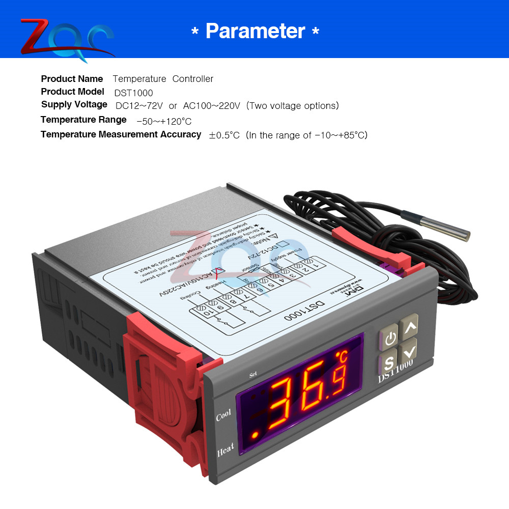 Business & Industrial STC-1000 DC12-72V Temperature Thermostat ...