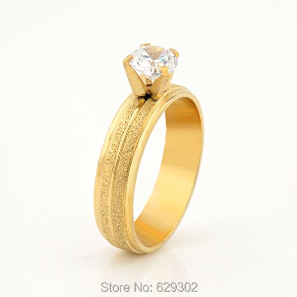 Aliexpress.com : Buy Fashion K Gold Zircon Crystal Wedding Ring in ...
