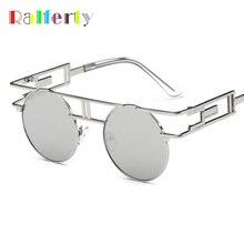 Ralferty Gothic Steampunk Ronda gafas de Sol de Las Mujeres de Los Hombres de La Vendimia Gafas Retro Revestimiento Gafas de Sol Reflectantes gafas de sol mujer