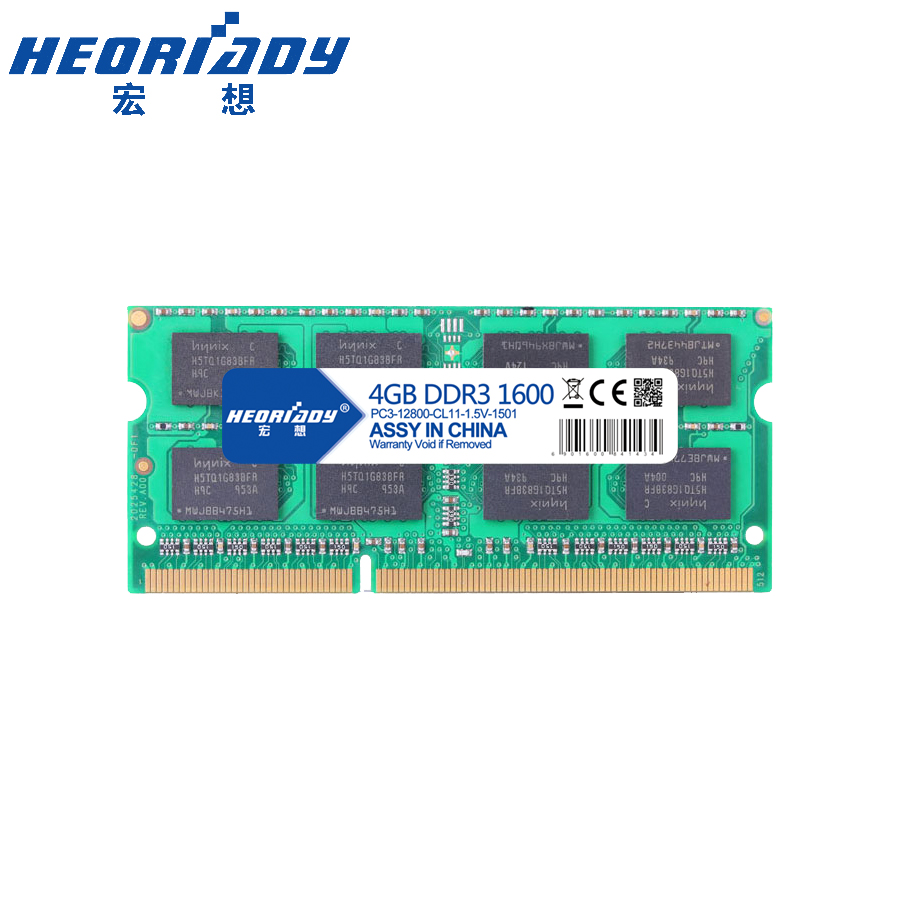 Ddr 3 4 gb pour ordinateur portable 1600 mhz mémoire ram ddr3l macbook compatible 1333 mhz 4 gb 1.5 v 1.35 v