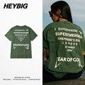 Военный Зеленый Tee Звучит Задницу смешные Одежда Мужская Рок и рэп tee shirt Американской Моды Топы Heybig Хип-Хоп футболка Азиатский РАЗМЕР