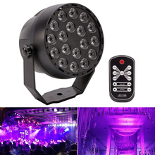 18 Leds UV purple LED Stage Par lights Sound Activated DMX Party Lights with Remote for Disco DJ Clubs Bar Holiday EU/US