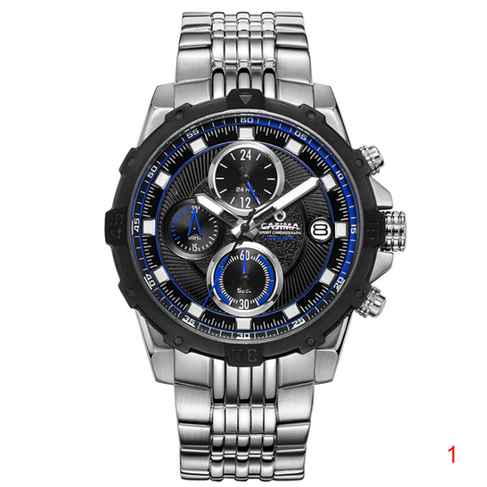 Men Quartz Watch Sports Luminous Waterproof Stainless Steel/Silicone Strap Wristwatch LL@17 цена и фото