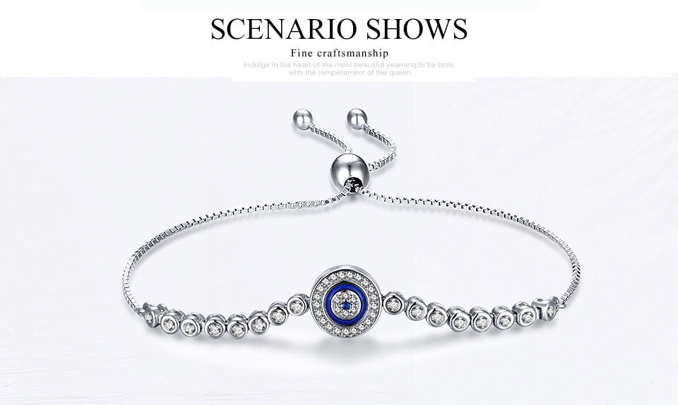 HTB1tbm2v1uSBuNjSsziq6zq8pXaG - Luxury Brand Evil Eye Tennis Bracelet Hip Hop 925 Sterling Silver Bracelets for Women Blue Stone Beads Bracelet Mens Jewellery
