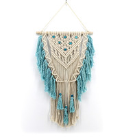 Indian Handmade Macrame Hanging Decorations Bohemian Cotton Handwork wall tapestry living room bedroom wall Art decoration