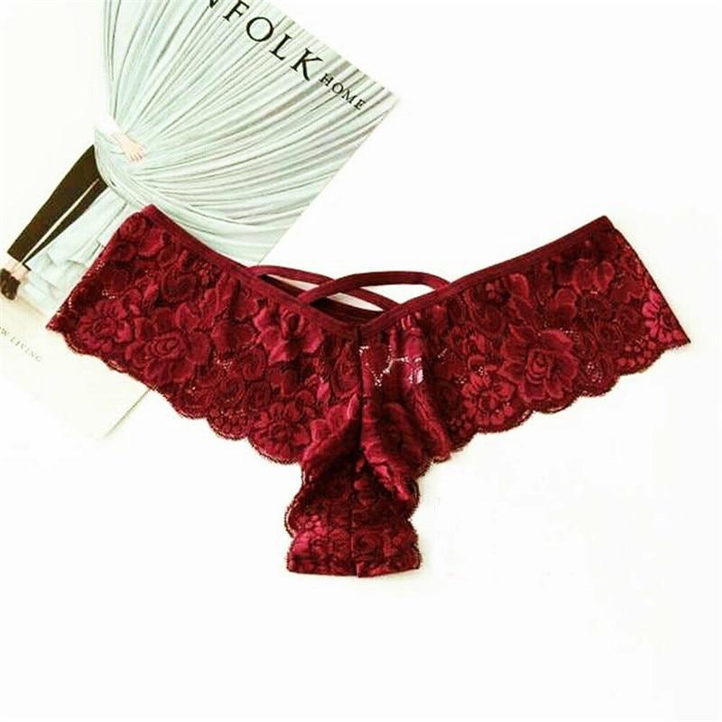 Untrathin и мягкий Для женщин сексуальное кружевное белье трусики короткое бикини Трусы-стринги Брюки Высокая Талия Бикини плавки - Цвет: As Photo Shows