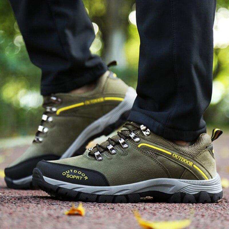 Hommes militaires bottes baskets d'extérieur en cuir imperméable hiver automne hommes chaussures décontractées plus les tailles 39-49 botines hombre NA283