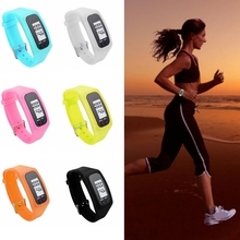 6 Colors Electronic Waterproof Digital LCD Run Step Pedometer Portable Walking Calorie Counter Distance Pedometers