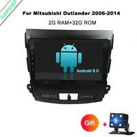 Funrover 9Android 8.0 Car GPS Navigation tape recorder for Mitsubishi Outlander 2006 2014 Peugeot 4007 Citroen C Crosser wifi